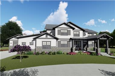 5-Bedroom, 5172 Sq Ft Farmhouse House - Plan #194-1030 - Front Exterior