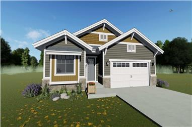 2-Bedroom, 1378 Sq Ft Cottage Home - Plan #194-1031 - Main Exterior