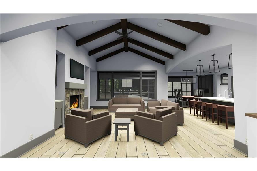 Living Room of this 3-Bedroom,2551 Sq Ft Plan -2551