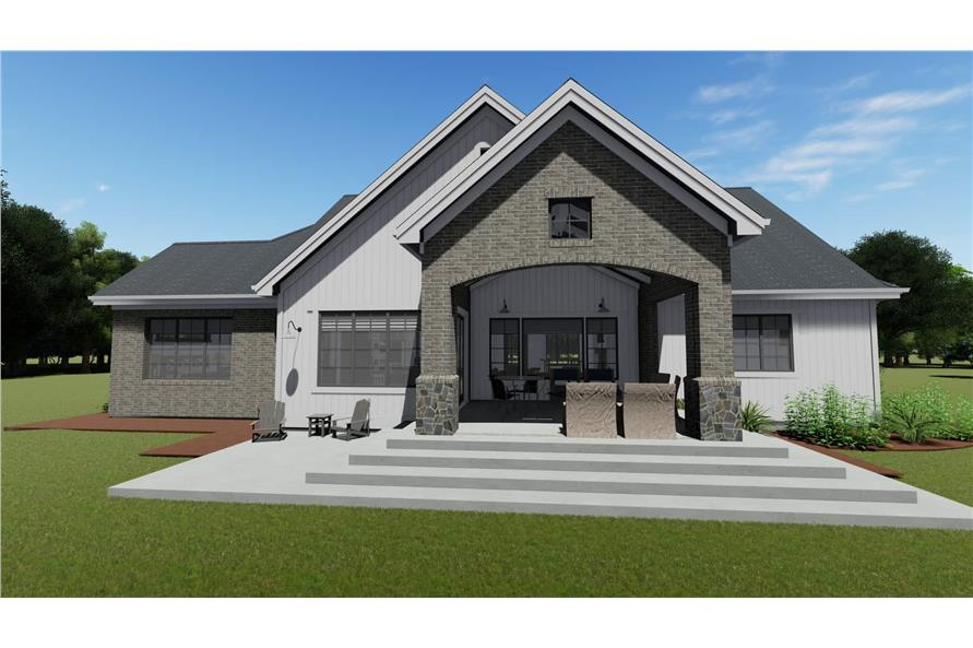 Rear View of this 3-Bedroom,2551 Sq Ft Plan -2551