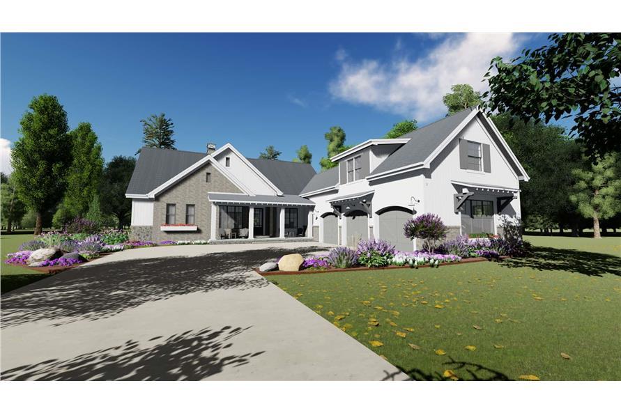 3-Bedroom, 2551 Sq Ft Modern Farmhouse Home Plan - 194-1032 - Main Exterior