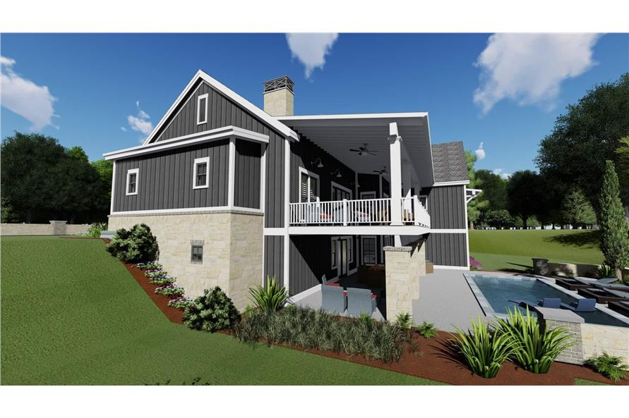 Side View of this 3-Bedroom,2923 Sq Ft Plan -2923