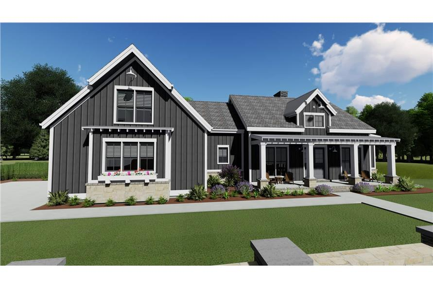 Rear View of this 3-Bedroom,2923 Sq Ft Plan -2923