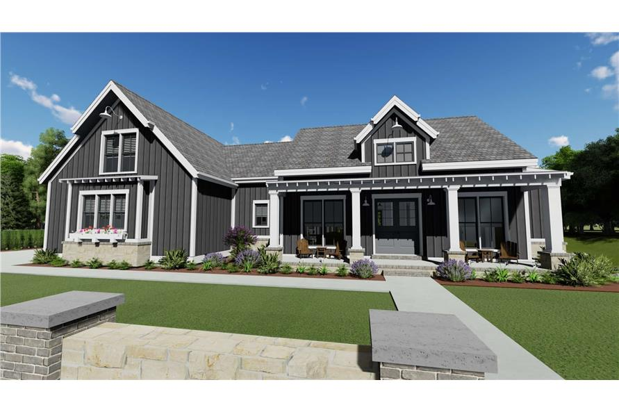 3-Bedroom, 2923 Sq Ft Farmhouse House - Plan #194-1034 - Front Exterior