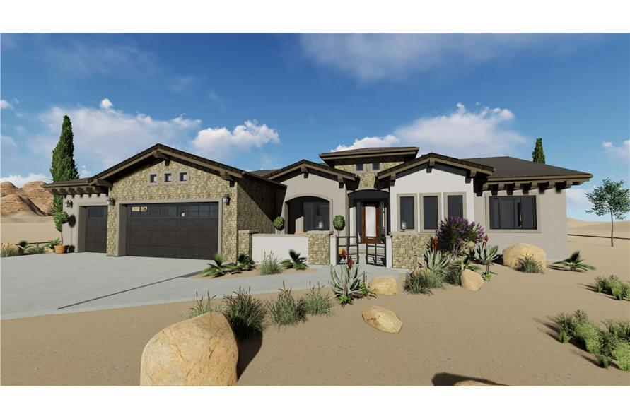 3-Bedroom, 2982 Sq Ft Ranch House - Plan #194-1035 - Front Exterior