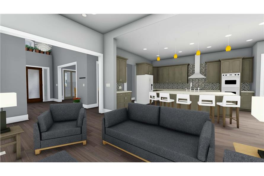 Living Room of this 3-Bedroom,3546 Sq Ft Plan -3546
