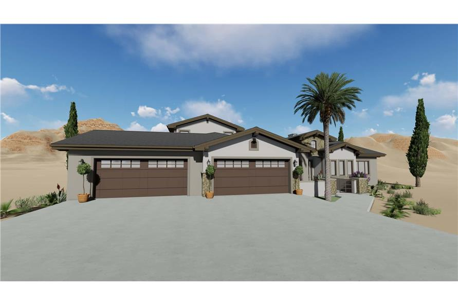 Garage of this 3-Bedroom,3546 Sq Ft Plan -3546