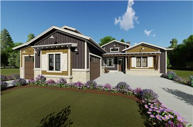 4-Bedroom, 2695 Sq Ft Ranch House - Plan #194-1038 - Front Exterior