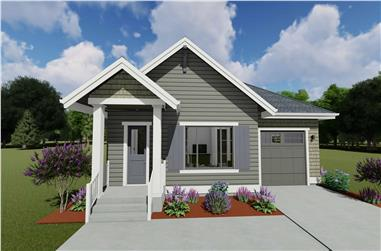 1-Bedroom, 810 Sq Ft Cottage Home Plan - 194-1039 - Main Exterior