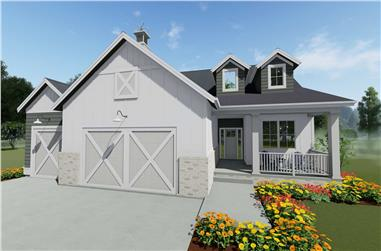 2-Bedroom, 1755 Sq Ft Ranch House Plan - 194-1040 - Front Exterior
