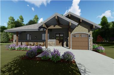 3-Bedroom, 1897 Sq Ft Craftsman Home Plan - 194-1041 - Main Exterior