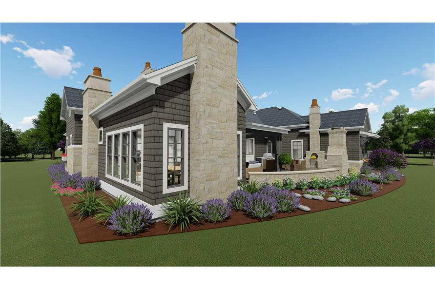 Side View of this 2-Bedroom,3433 Sq Ft Plan -3433
