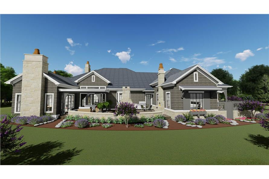 Rear View of this 2-Bedroom,3433 Sq Ft Plan -3433
