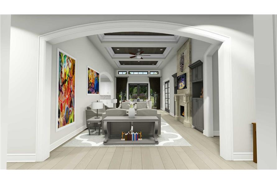 Living Room of this 2-Bedroom,3433 Sq Ft Plan -3433