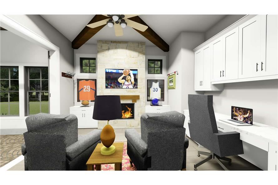 Home Office: Den of this 2-Bedroom,3433 Sq Ft Plan -3433