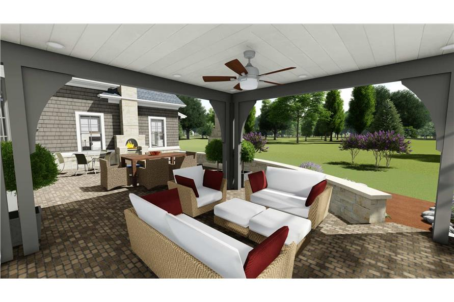 Porch of this 2-Bedroom,3433 Sq Ft Plan -3433