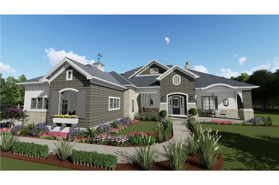 Front View of this 2-Bedroom,3433 Sq Ft Plan -3433