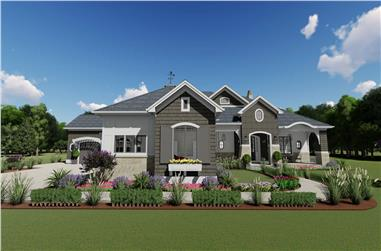 4-Bedroom, 3433 Sq Ft Cottage Home Plan - 194-1042 - Main Exterior