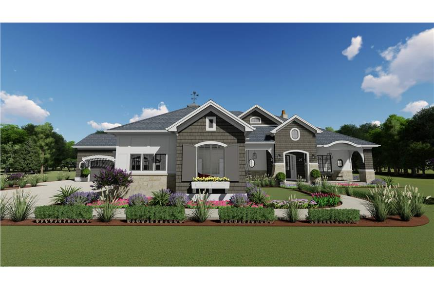 2-Bedroom, 3433 Sq Ft Cottage Home - Plan #194-1042 - Main Exterior