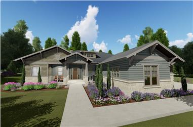 5-Bedroom, 3893 Sq Ft Craftsman Home Plan - 194-1043 - Main Exterior