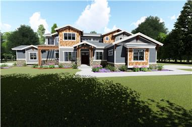5-Bedroom, 4602 Sq Ft Contemporary House - Plan #194-1044 - Front Exterior