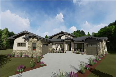 2-Bedroom, 2659 Sq Ft Ranch House - Plan #194-1045 - Front Exterior