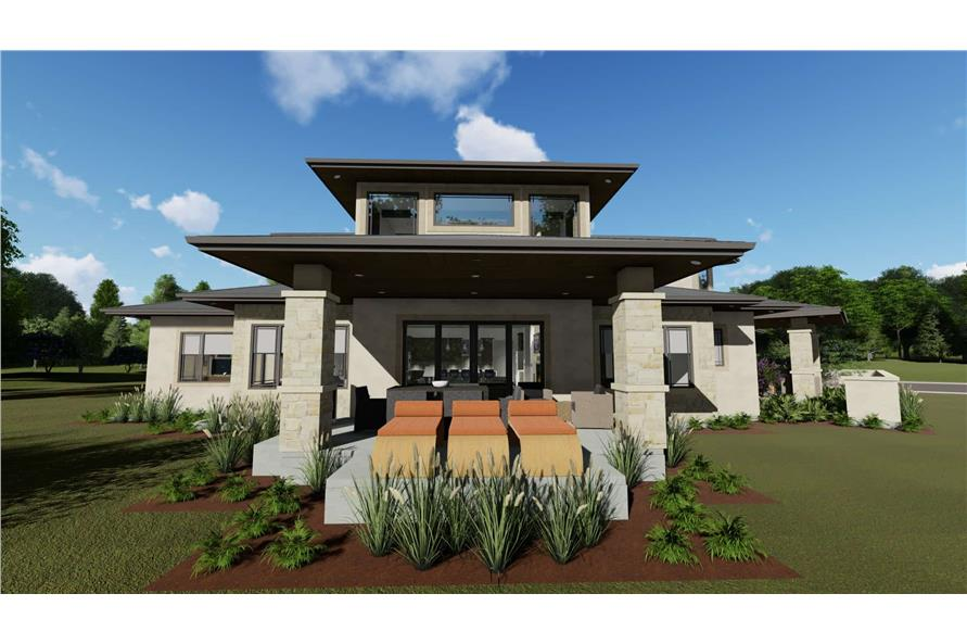 Rear View of this 3-Bedroom,3125 Sq Ft Plan -3125