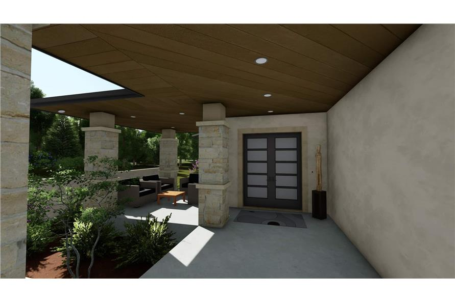 Porch of this 3-Bedroom,3125 Sq Ft Plan -3125