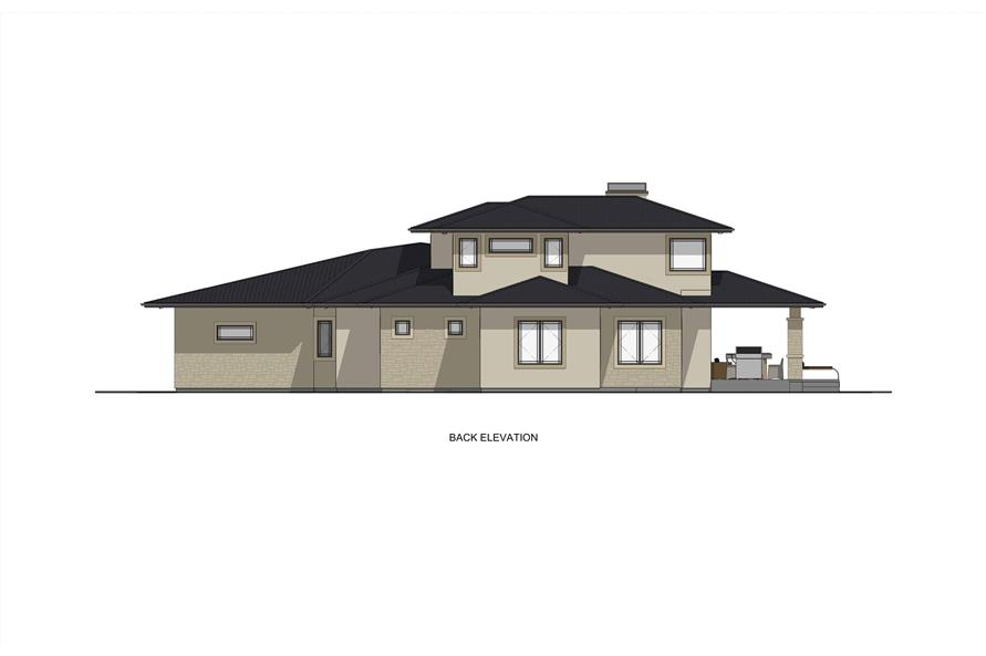 Home Plan Rear Elevation of this 3-Bedroom,3125 Sq Ft Plan -194-1047
