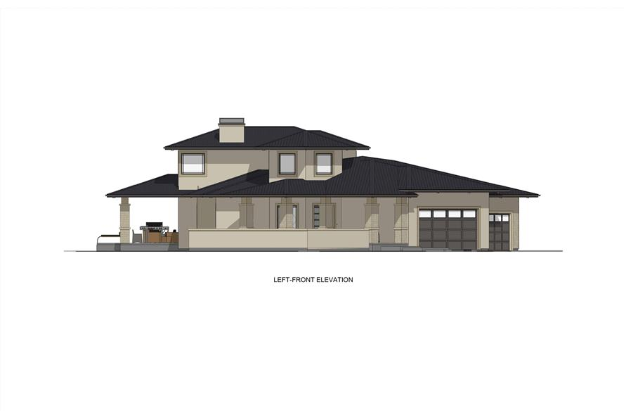 Home Plan Front Elevation of this 3-Bedroom,3125 Sq Ft Plan -194-1047