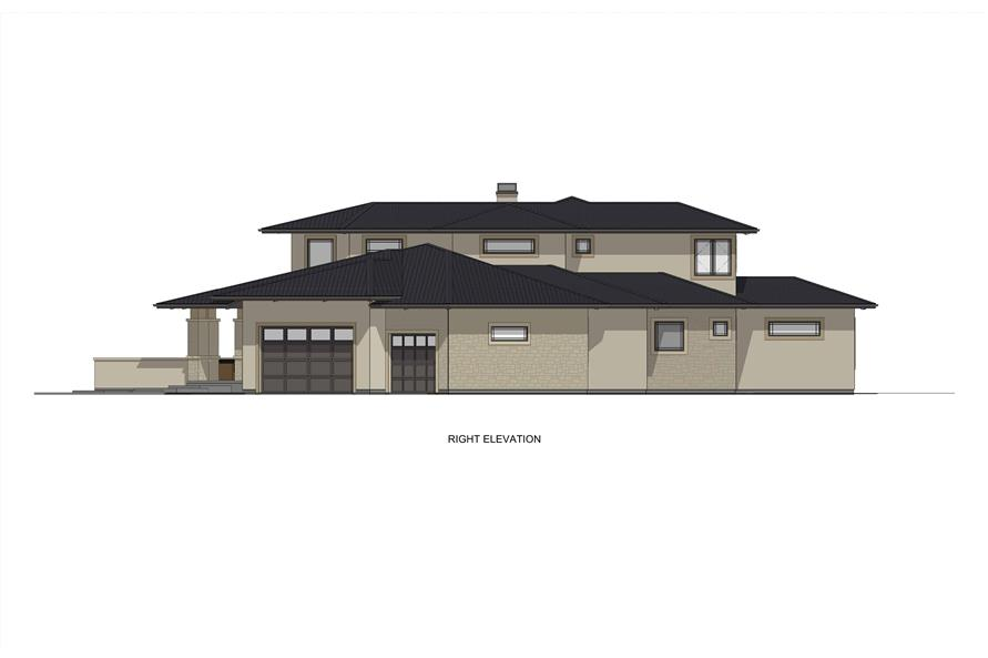 Home Plan Right Elevation of this 3-Bedroom,3125 Sq Ft Plan -194-1047