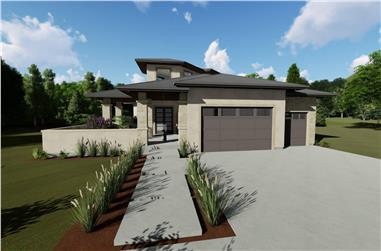 3-Bedroom, 3125 Sq Ft Contemporary House - Plan #194-1047 - Front Exterior