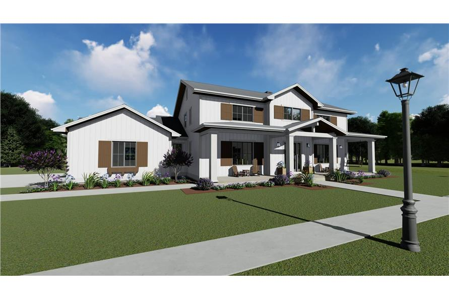 Front View of this 5-Bedroom,3117 Sq Ft Plan -3117