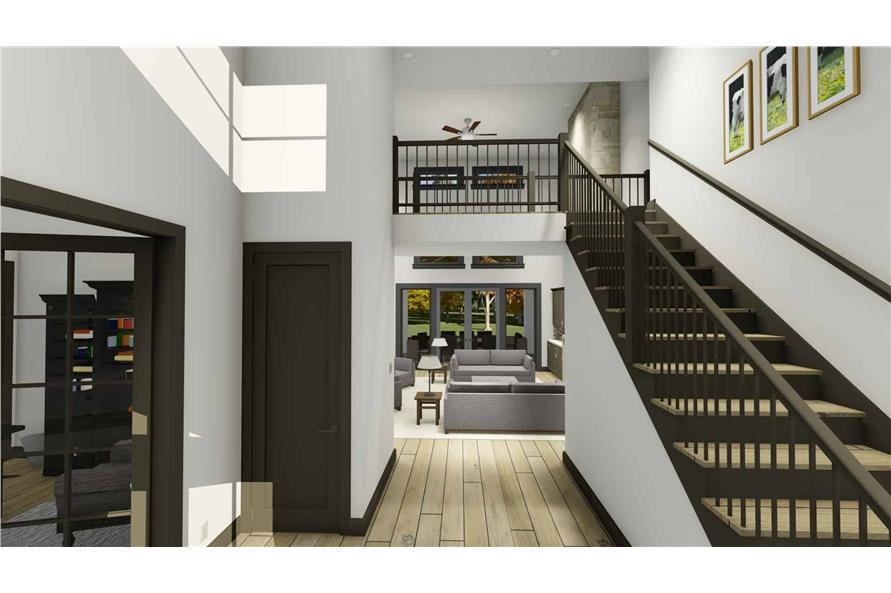 Entry Hall: Staircase of this 5-Bedroom,3117 Sq Ft Plan -3117