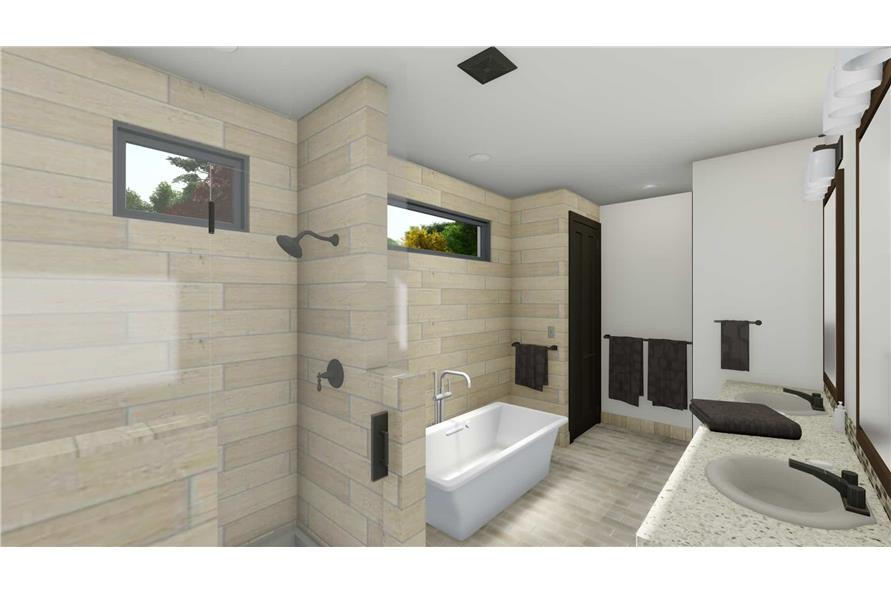 Master Bathroom of this 5-Bedroom,3117 Sq Ft Plan -3117