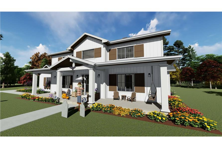 Right View of this 5-Bedroom,3117 Sq Ft Plan -3117