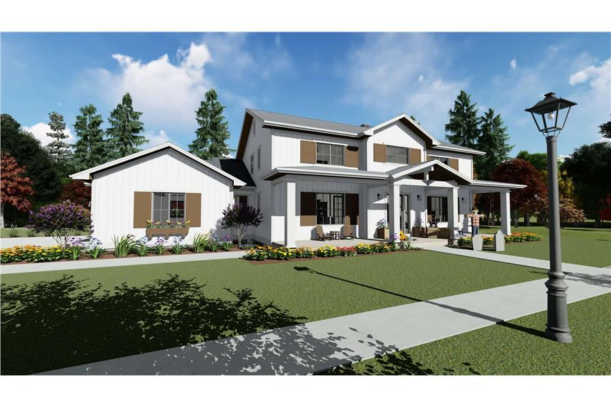 Left View of this 5-Bedroom,3117 Sq Ft Plan -3117