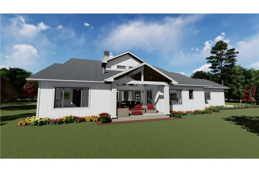 Rear View of this 5-Bedroom,3117 Sq Ft Plan -3117