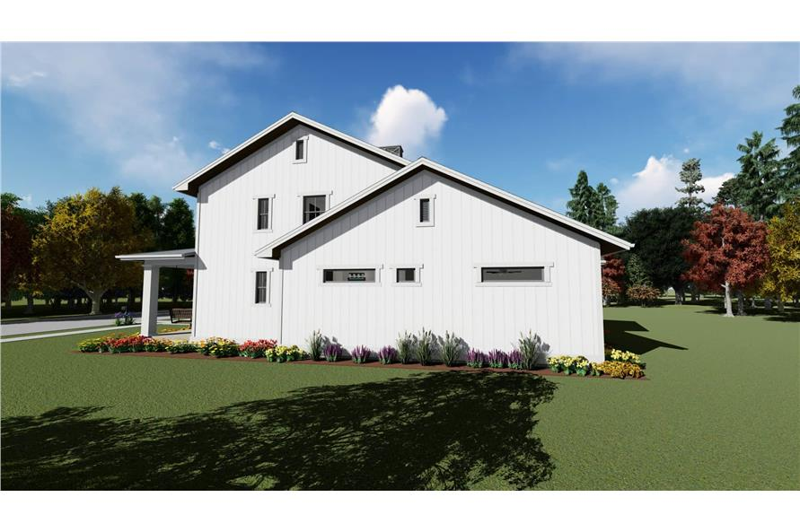 Side View of this 5-Bedroom,3117 Sq Ft Plan -3117