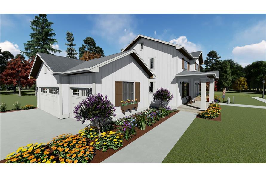 Garage of this 5-Bedroom,3117 Sq Ft Plan -3117