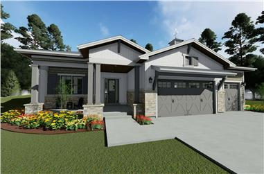 3–6-Bedroom, 2370 Sq Ft Ranch House - Plan #194-1050 - Front Exterior