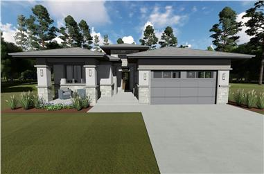 3–5-Bedroom, 2385 Sq Ft Prairie Style House - Plan #194-1051 - Front Exterior