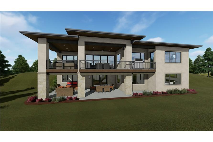 Rear View of this 3-Bedroom,2539 Sq Ft Plan -2539