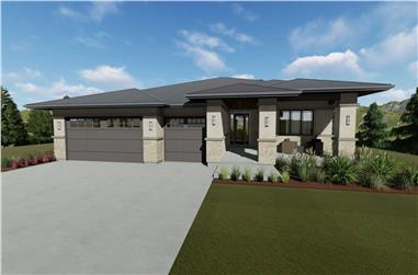 3–7-Bedroom, 2539 Sq Ft Contemporary Home - Plan #194-1054 - Main Exterior