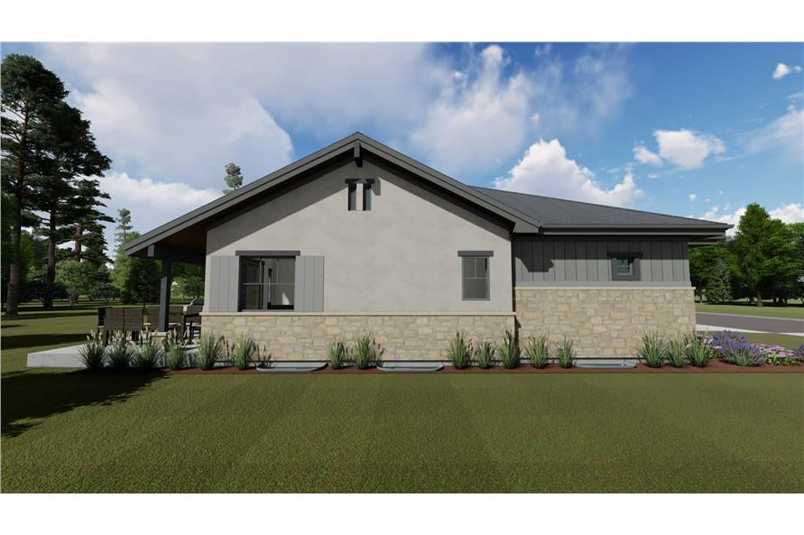 Side View of this 4-Bedroom,3582 Sq Ft Plan -3582