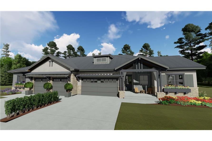 Front View of this 4-Bedroom,3582 Sq Ft Plan -3582