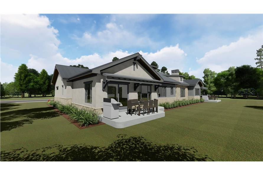 Rear View of this 4-Bedroom,3582 Sq Ft Plan -3582