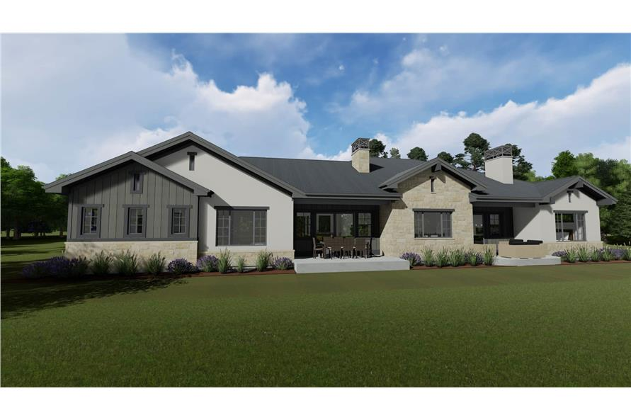 Rear View of this 4-Bedroom,3692 Sq Ft Plan -3692