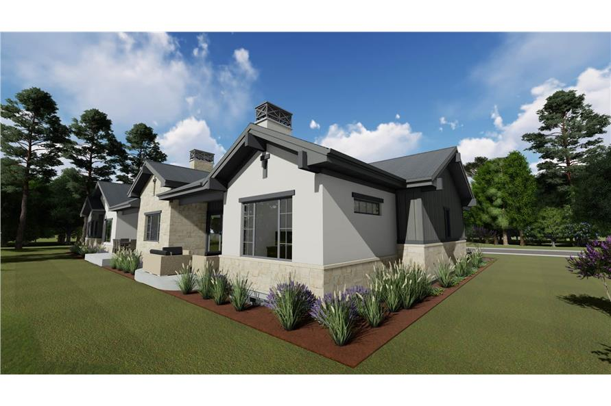 Side View of this 4-Bedroom,3692 Sq Ft Plan -3692