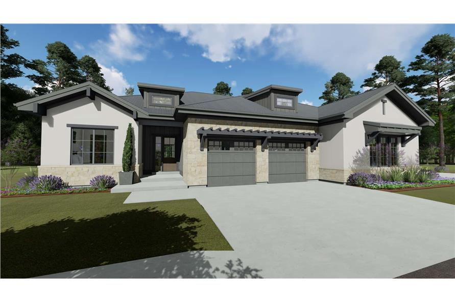Front View of this 4-Bedroom,3692 Sq Ft Plan -3692